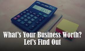 calculator with words, what is your business worth?